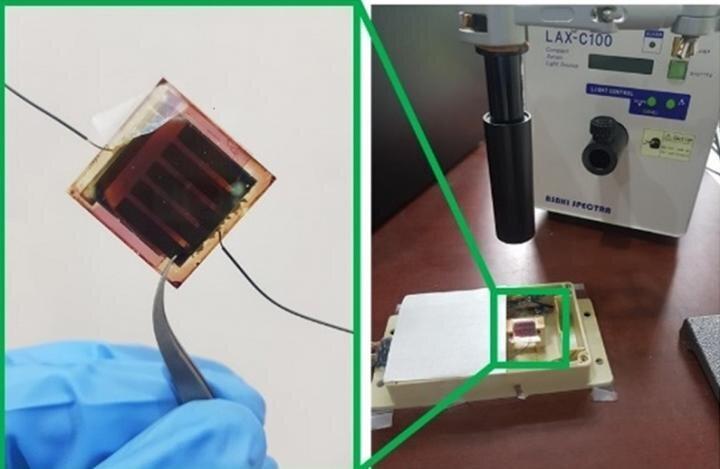 Humidity sensor combining variable filter and solar cells. Credit: Junsuk Rho (POSTECH)