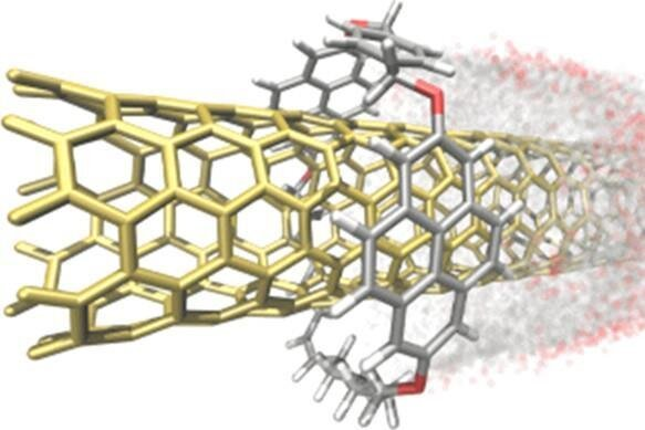 Macrocycles in mechanically interlocked carbon nanotubes rotate and translate freely around and along single-walled carbon nanotubes at room temperature, with an energetic cost lower than that for the rotation around the C–C bond in ethane